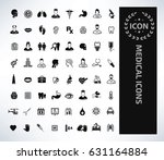 medical icon set clean vector | Shutterstock .eps vector #631164884