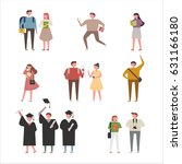 campus people vector... | Shutterstock .eps vector #631166180