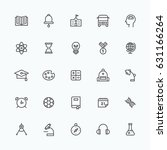 study icons vector illustration ... | Shutterstock .eps vector #631166264