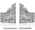 Wrought Iron Gate Isolated On...