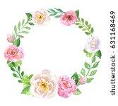 floral hand drawn green... | Shutterstock . vector #631168469