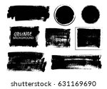 vector black paint  ink brush... | Shutterstock .eps vector #631169690