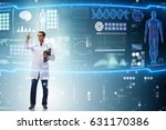 doctor in futuristic medical... | Shutterstock . vector #631170386