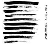 ink vector brush strokes.... | Shutterstock .eps vector #631174019