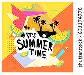 summer time vector banner... | Shutterstock .eps vector #631174778