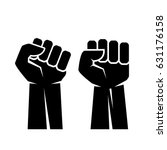 raised fist hand vector eps... | Shutterstock .eps vector #631176158