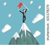 employee climbed  on top of the ... | Shutterstock .eps vector #631178270