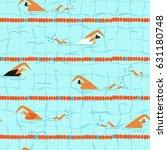 people swim in the swimming... | Shutterstock .eps vector #631180748