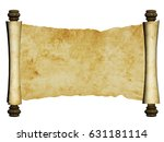 old parchment. isolated on... | Shutterstock . vector #631181114