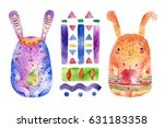 isolated watercolor...   Shutterstock . vector #631183358