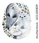 Illustration Cute Fur Seals In...
