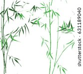 bamboo seamless pattern. vector ... | Shutterstock .eps vector #631189040