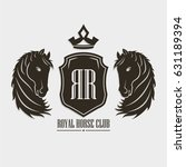 royal horse club poster concept ...   Shutterstock .eps vector #631189394