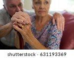 senior man holding hands of old ... | Shutterstock . vector #631193369