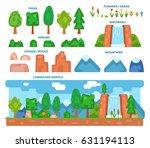 landscape generator  set of... | Shutterstock .eps vector #631194113