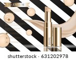 hydrating facial lipstick for... | Shutterstock .eps vector #631202978