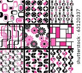 collection of mod seamless... | Shutterstock .eps vector #63120337