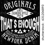 t shirt design fashion logo  | Shutterstock .eps vector #631206893