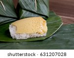 sweet sticky rice with thai... | Shutterstock . vector #631207028