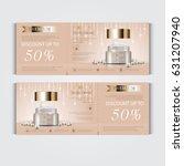 gift voucher hydrating facial... | Shutterstock .eps vector #631207940
