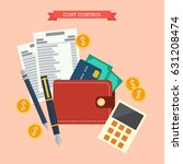 cost control concept. flat... | Shutterstock .eps vector #631208474