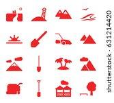 landscape icons set. set of 16... | Shutterstock .eps vector #631214420