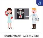 doctor explaining the results... | Shutterstock .eps vector #631217630