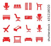 seat icons set. set of 16 seat... | Shutterstock .eps vector #631218020