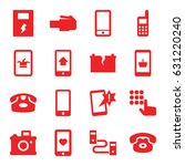 phone icons set. set of 16... | Shutterstock .eps vector #631220240