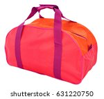 a red nylon sports bag ... | Shutterstock . vector #631220750