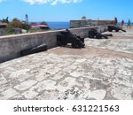 three cannons in fortress of... | Shutterstock . vector #631221563