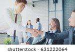 job applicant having interview. ... | Shutterstock . vector #631222064