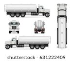 tanker truck vector template... | Shutterstock .eps vector #631222409