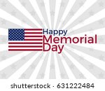 happy memorial day. american... | Shutterstock .eps vector #631222484