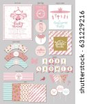 party package for baby shower... | Shutterstock .eps vector #631229216