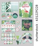 party package for tropical... | Shutterstock .eps vector #631229228
