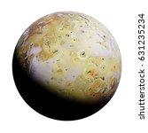 io  moon of the planet jupiter... | Shutterstock . vector #631235234