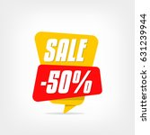 yellow sale tag isolated on... | Shutterstock .eps vector #631239944