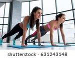 group of young sportswomen... | Shutterstock . vector #631243148