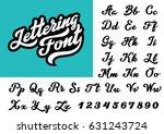 calligraphic vintage... | Shutterstock .eps vector #631243724