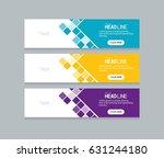 abstract web banner design... | Shutterstock .eps vector #631244180