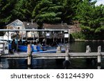 a scene in the movie jaws in... | Shutterstock . vector #631244390