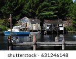 a scene in the movie jaws  in... | Shutterstock . vector #631246148