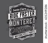 california motorcycle ride... | Shutterstock .eps vector #631249286