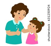 father admire daughter... | Shutterstock .eps vector #631250924