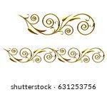 golden  ornamental segment  ... | Shutterstock . vector #631253756