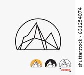 mountain line icon vector | Shutterstock .eps vector #631254074