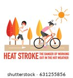 heat stroke the dangers of... | Shutterstock .eps vector #631255856