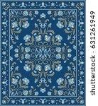 oriental floral ornament.... | Shutterstock .eps vector #631261949
