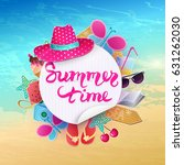 summer time vector illustration.... | Shutterstock .eps vector #631262030
